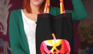 KROK XV - Gotowa torba na halloweenowe cukierki i ciastka