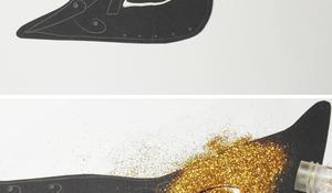 KROK IV – Dekorowanie maski brokatem